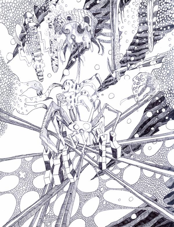B_Bohnsack_Departure_pen on paper_9x12in_2015