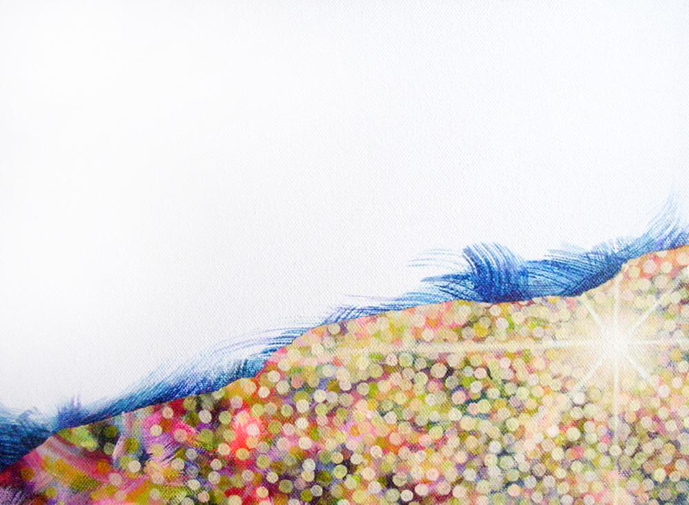 Towanohikari S 9-x12- Acrylic and Oil on canvas 2015_