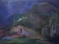 Val Parsio Oil Mixed Media Collage 26 x 44