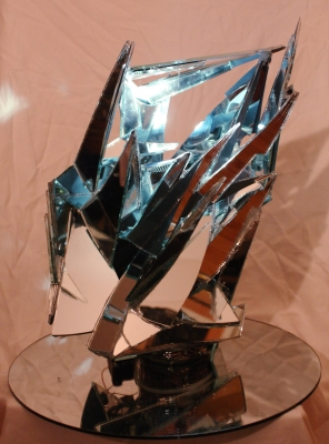 """Rachel Chatham, """"Breaking Place"""", mirror and LED light"""