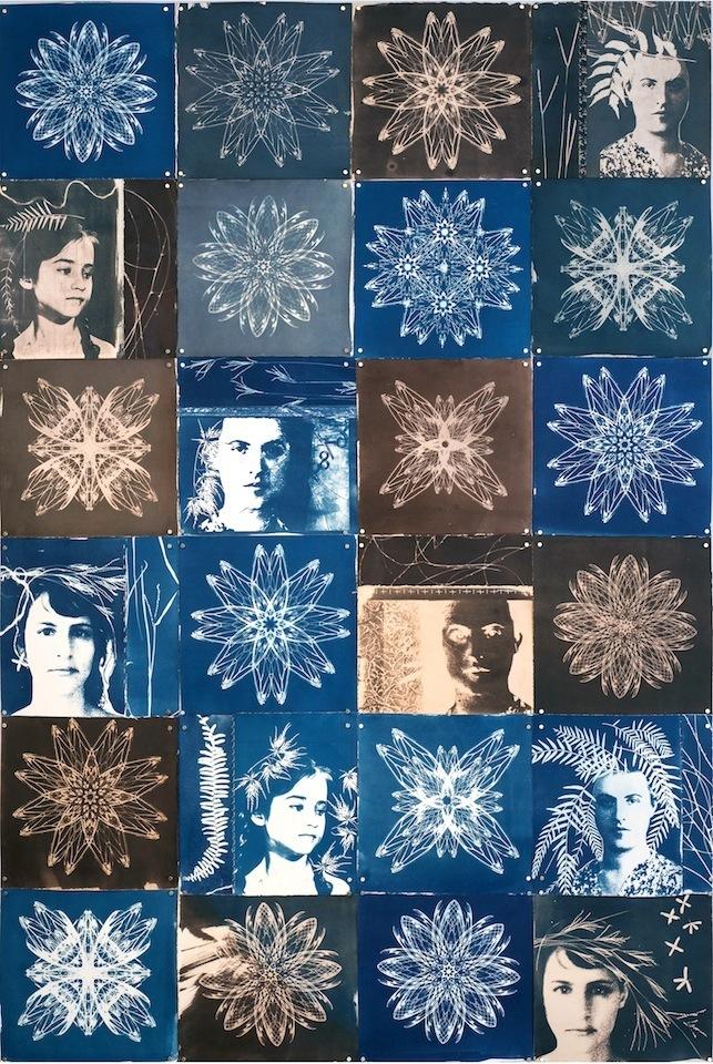 Anna Mavromatis Night Rhythms Cyanotype 78x52 2014