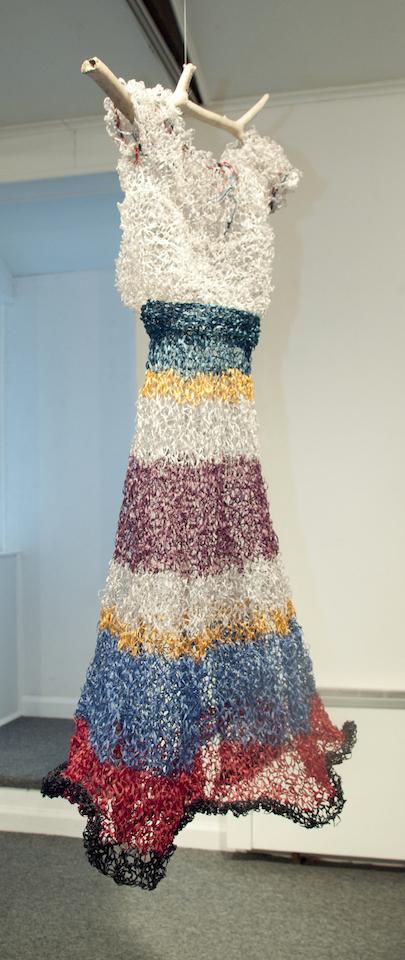 Marcia Widenor Fiesta Japanese paper_yarn and driftwood 34x20x18 2011
