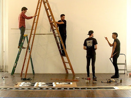Queer WAH: Installation Crew Membwes on Oct. 4, 2015 photos taken by Yuko Nii
