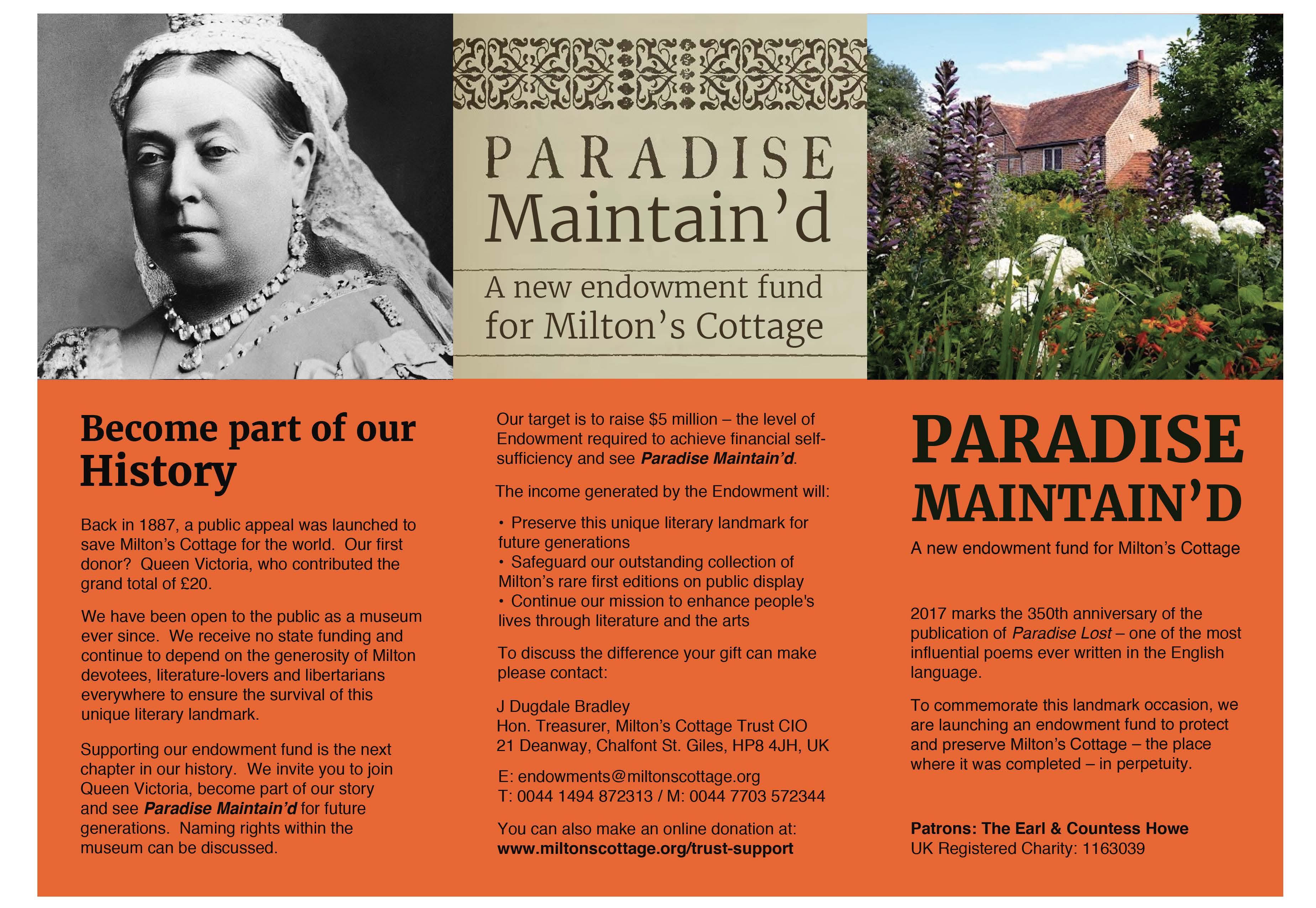 Paradise Maintain'd Endowment Fund
