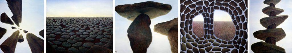 Stone paintings by Yuko Nii