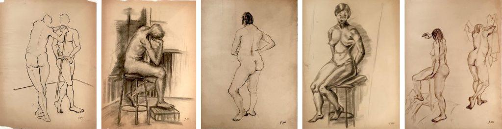 Life drawings by Yuko Nii